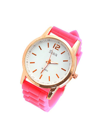 watch, sisa, neon, pink, rose, gold, wristwatch, fashionlover, fashion, musthave