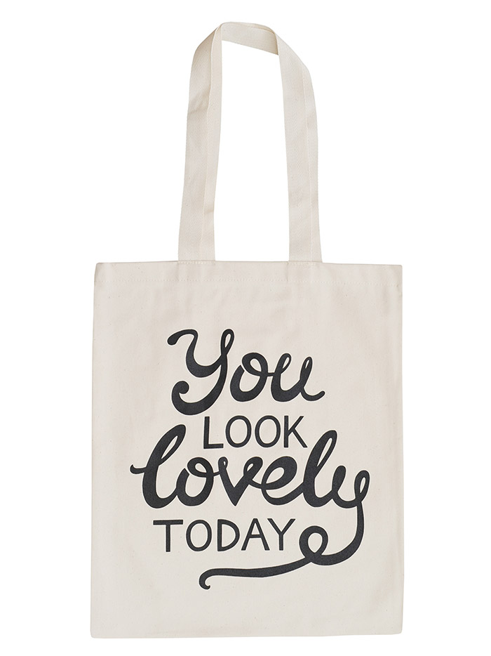Stoffen Witte Tas : Canvas tas you look lovely today bestel direct