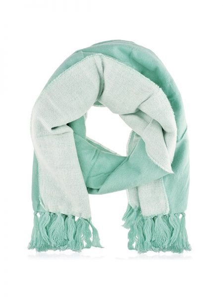 blauwe sjaal, blauwe wintersjaal, two tone sjaal, mint sjaal, fashionlover, fashion musthaves, musthaves webshop