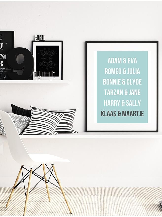 gepersonaliseerde poster, romantische poster, a3 poster persoonlijk, personaliseerbare a3 poster, koppels poster