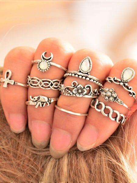 Ringen set, knuckle ringen set, fashion musthaves, musthaves webshop, goedkope sieraden webshop, fashionlover, set ringen, knuckle ringen