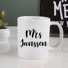 gepersonaliseerde koffiemok, mok met naam, koffiemok naam, naam op mok, naam op koffiemok, mrs koffiemok, mr koffiemok