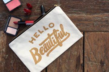 Hello Beautiful, canvas clutch, make up tas, make up clutch, canvas make up tas, toilettas, fashion musthaves, i'm a fashionlover, webshop