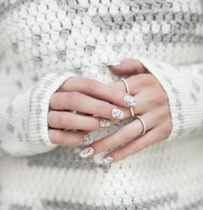 How to: witte marmer nagels